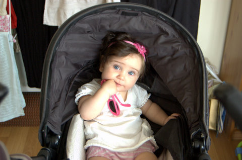 Mersina on her sixth month birthday
